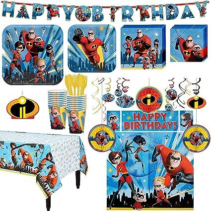 Amazon.com: The Incredibles - Kit de 2 cumpleaños para ...