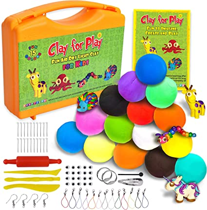 12 COLOURS PLASTICINE CLAY MODELLING CHILDRENS ARTS /& CRAFT PLAY SET NON TOXIC