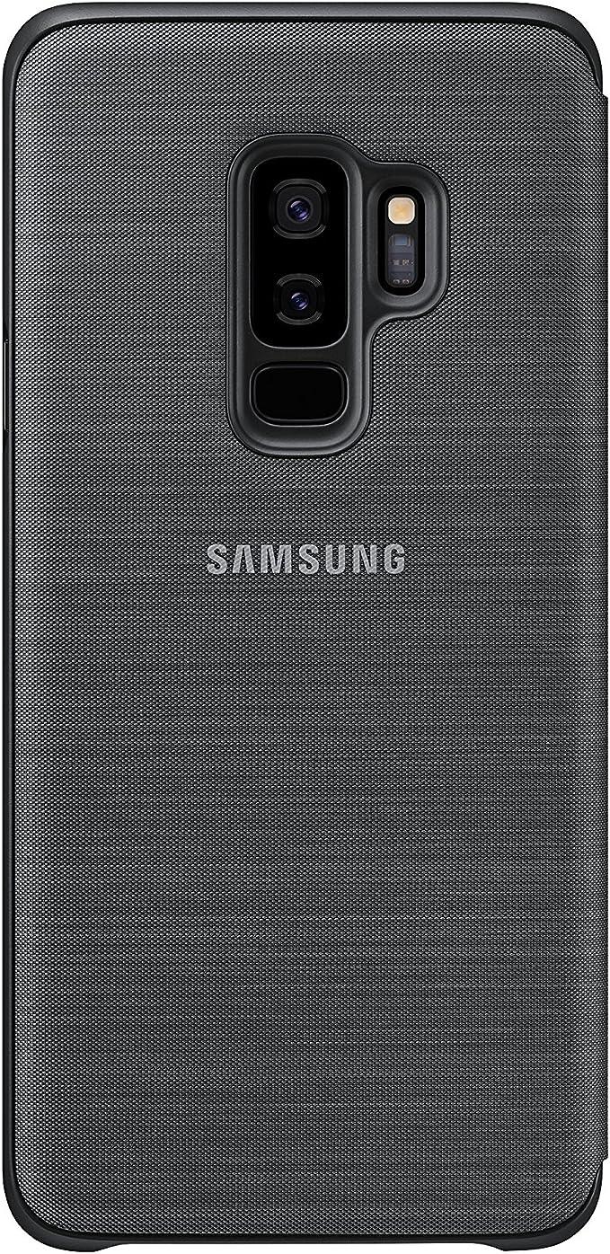 Samsung Galaxy S9 LED View Housse Etui Coque Portefeuille, Noir