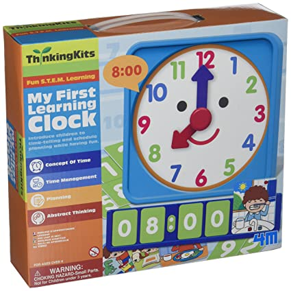 2ca7d5b79a Amazon.com  4M My First Learning Clock Kit  Toys   Games