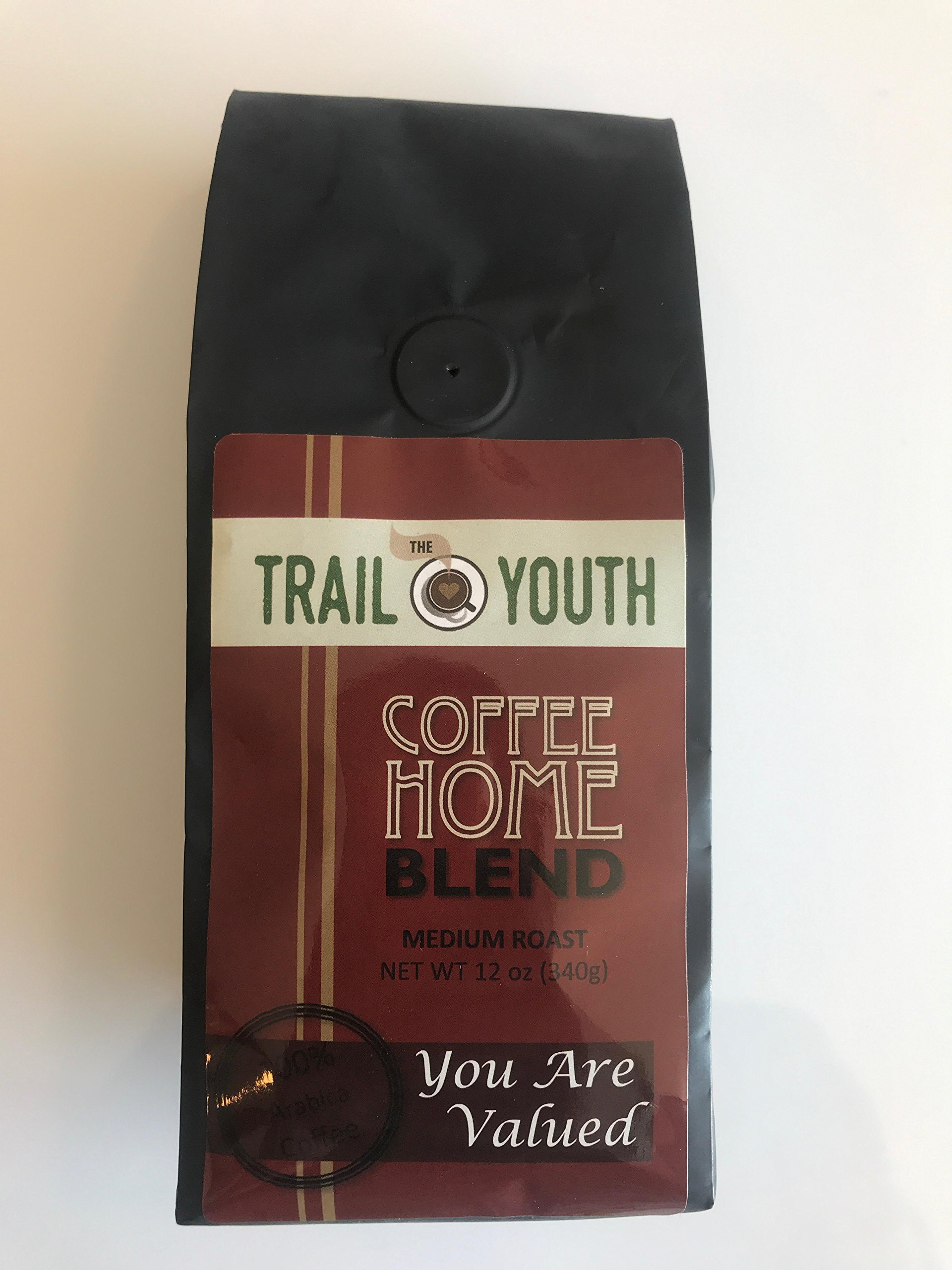 The Trail Youth Coffee Home Medium Blend Ground 12 oz