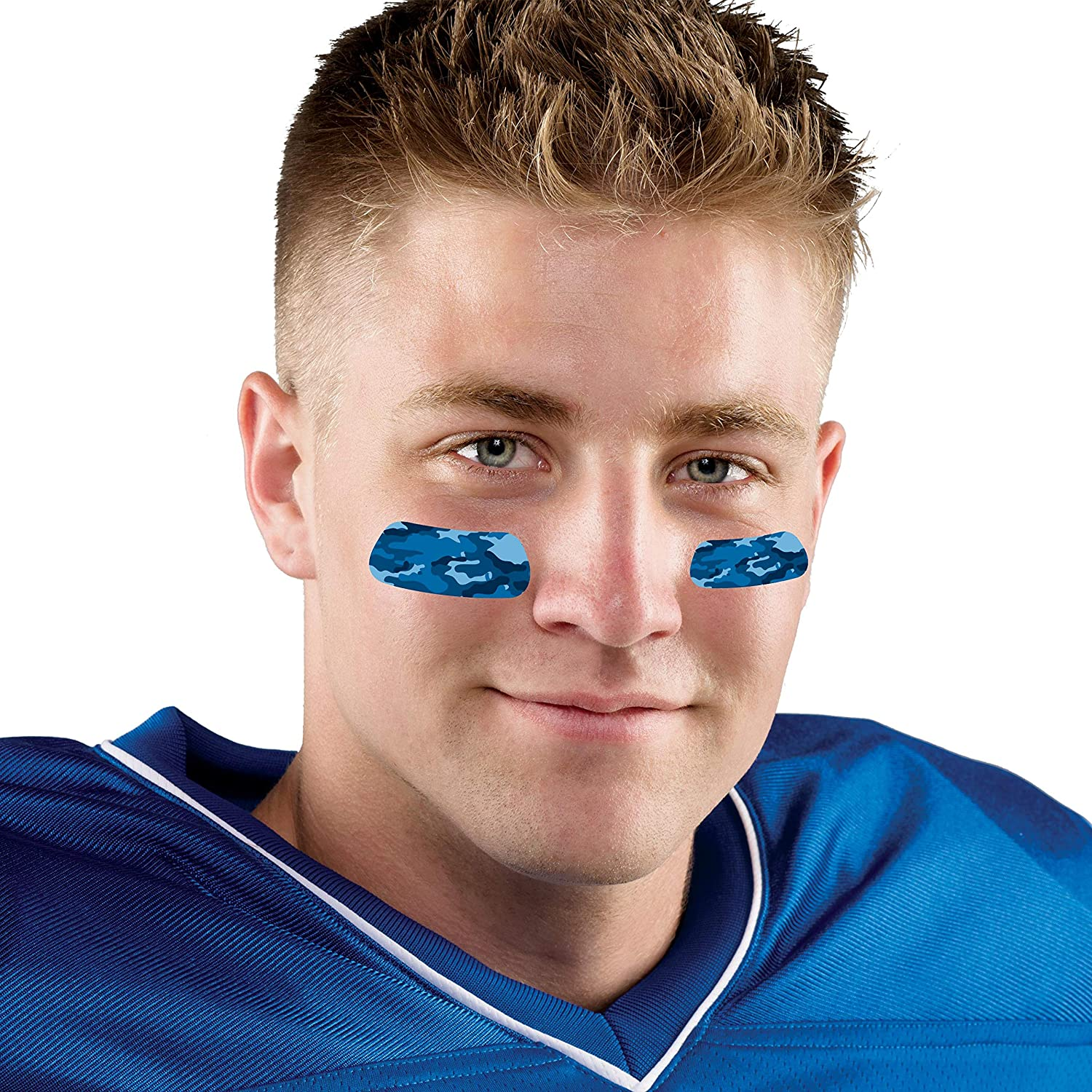 Camouflage EyeBlack Stickers Blue Package of 12 Pairs