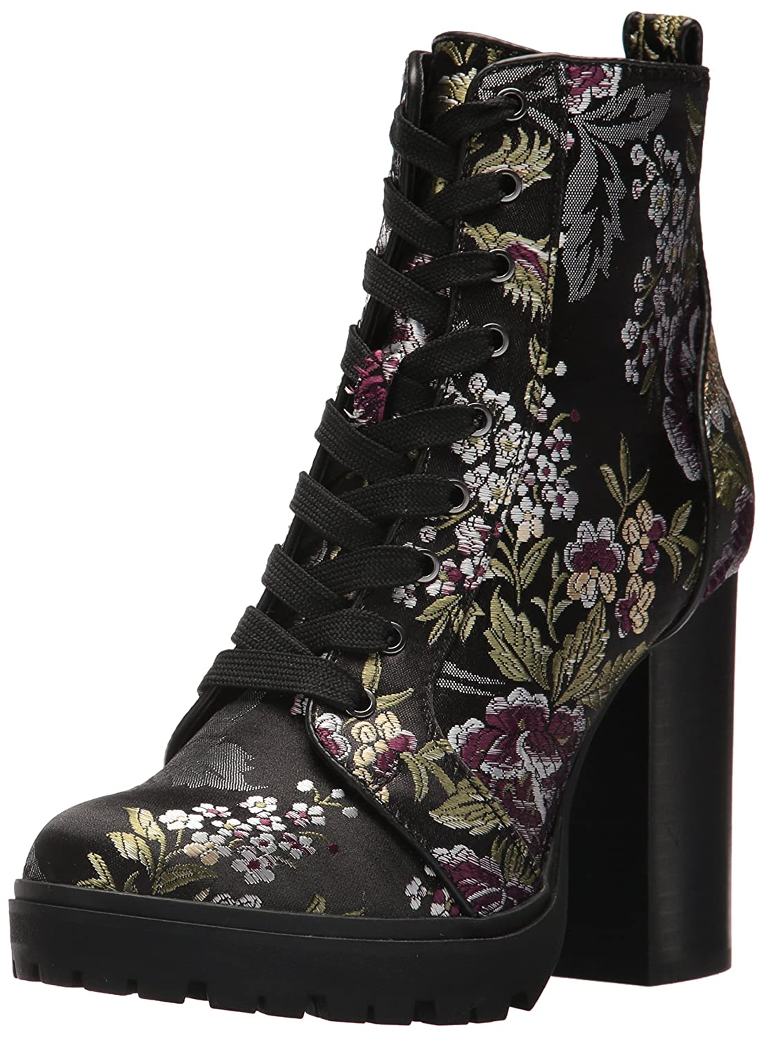 Steve Madden Women's Laurie Combat Boot B075Y9FH55 8.5 M US|Floral Multi