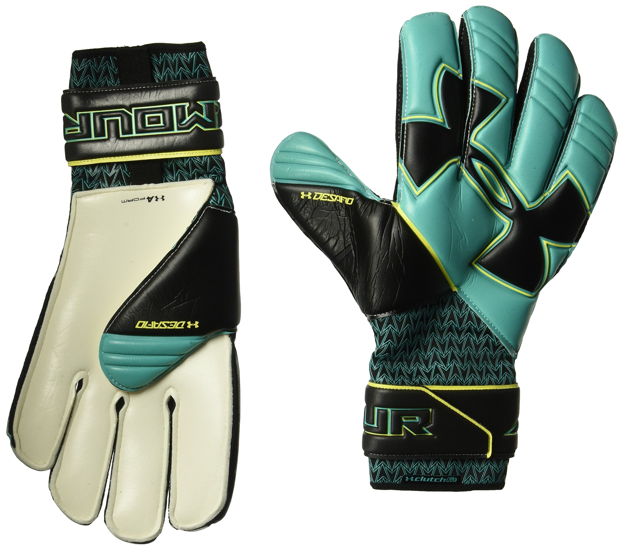 Under Armour Men's Desafio Pro Soccer Gloves, Teal Punch (594)/Black, 10