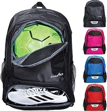 Amazon.com: Athletico Youth Soccer Bag – Mochila de fútbol y ...