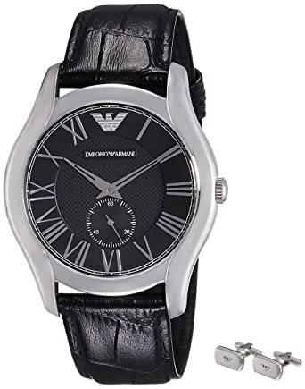 90910d8f19 Buy Emporio Armani Analog Black Dial Unisex Watch - AR8027 Online at Low  Prices in India - Amazon.in