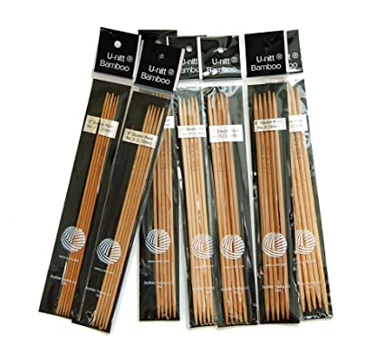 "Takumi Bamboo Double Point Knitting Needles 5/"" 5//pkg-size 1//2.25mm"