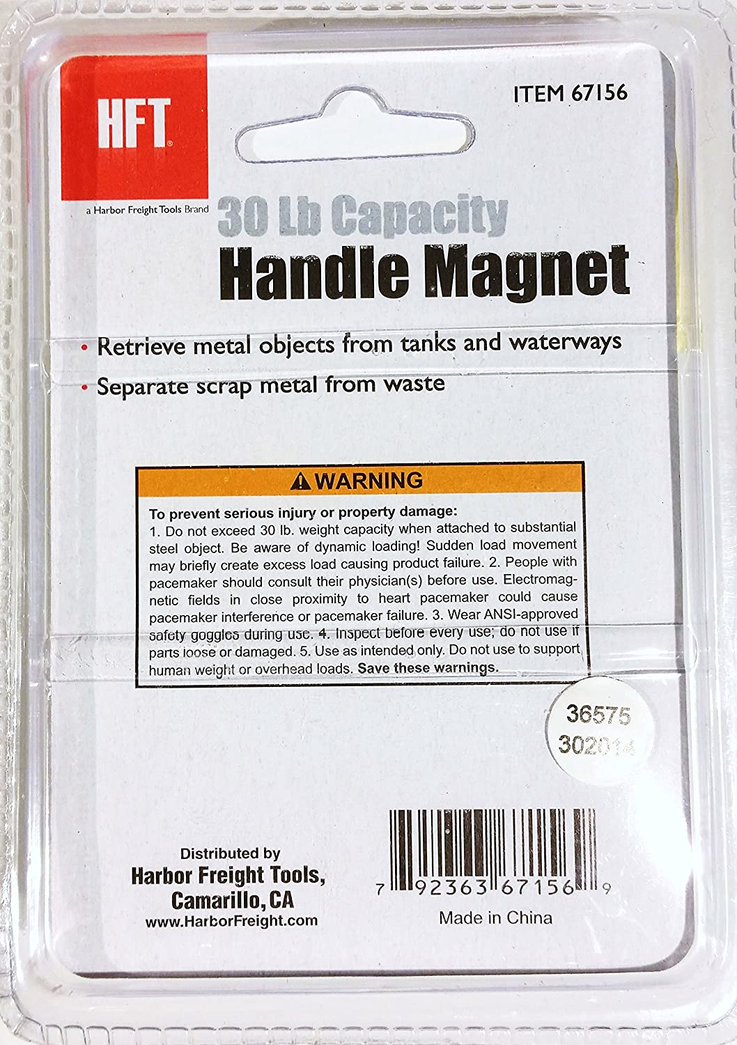 harbor freight tools 30 lb capacity powerful handle magnet
