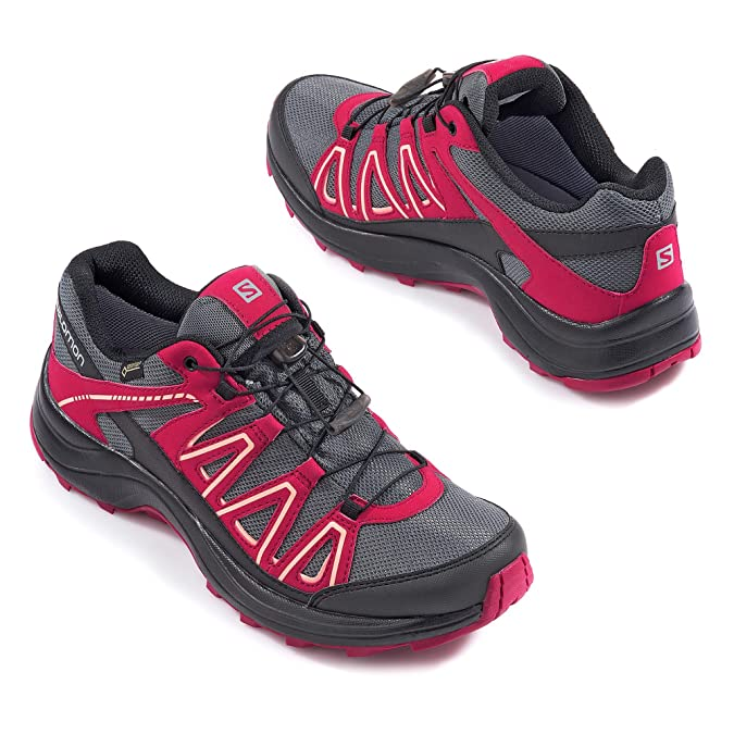 Salomon XA Centor Damen Outdoorschuhe Gore Tex pink grau