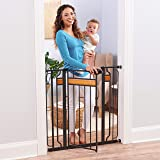 Regalo Home Accents Extra Tall and Wide Baby Gate, Bonus Kit, Includes Décor Hardwood, 4-Inch Extension Kit, 4-Inch Extension
