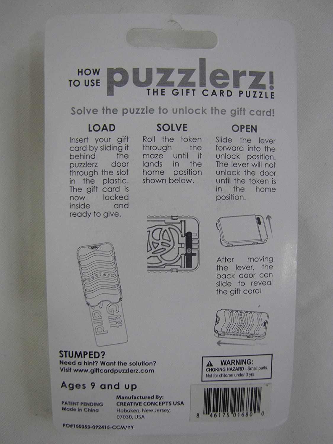 Puzzlerz The Gift Card Puzzle Travel Game