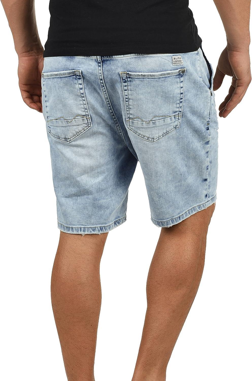 Blend Demo Pantal/ón Corto Vaqueros para Hombre El/ástico Regular-Fit