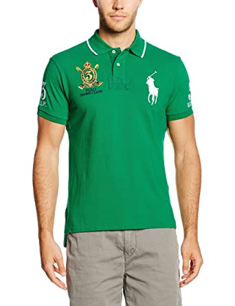 Polo Ralph Lauren SSCUSTBPPM4-SHORT Sleeve-Knit, Polo para Hombre ...