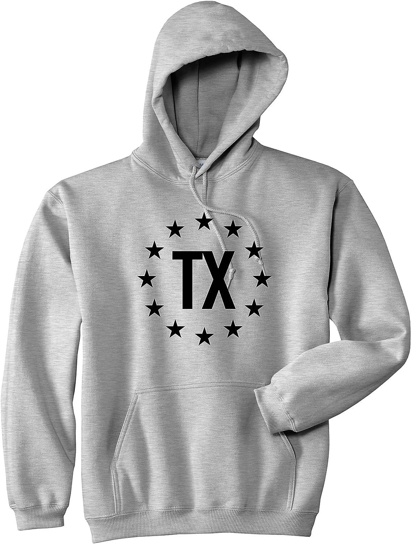 Kings Of NY TX Texas Stars Circle American Flag Style Mens Pullover Hoodie Hoody