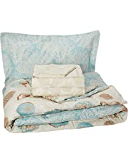 Discoveries Sea Breeze Seashell Bedding Comforter Set, Blue