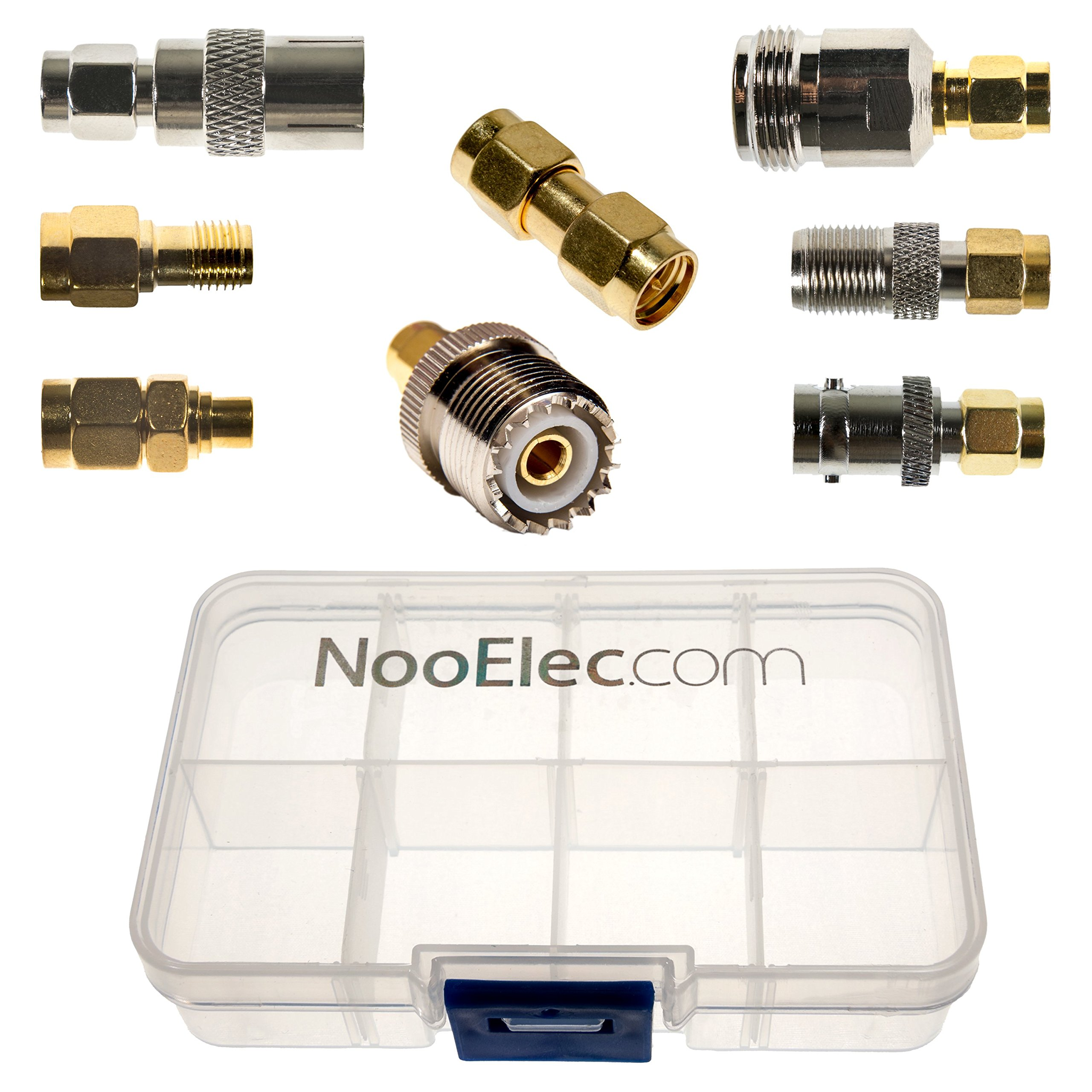 NooElec SMA Adapter Connectivity Kit - Set of 8 Adapters for NESDR SMArt (RTL-SDR) and Other SMA Software Defined Radios w/Portable Carrying Case