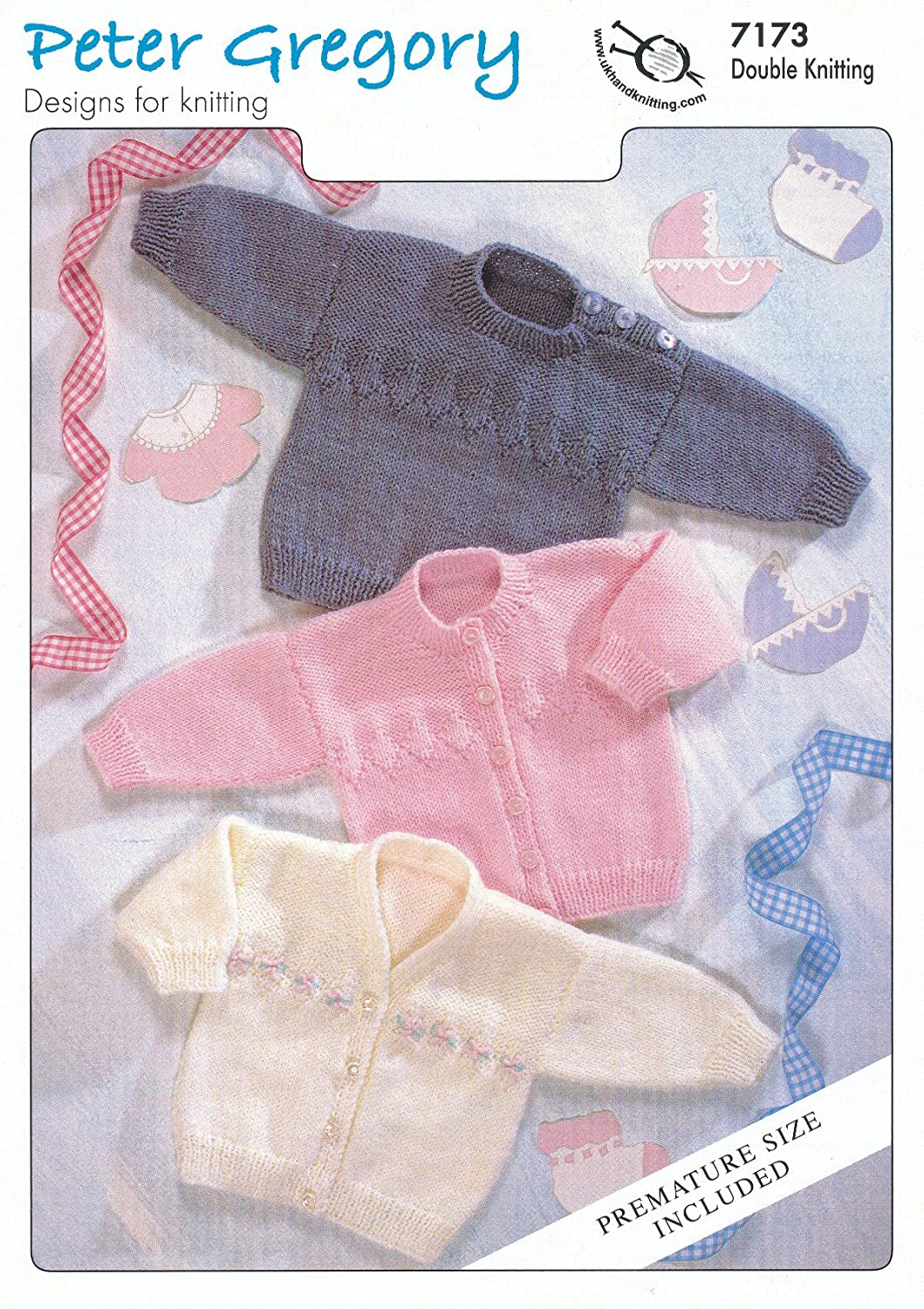 Amazon.com: Peter Gregory Baby DK Double Knitting Pattern Long ...