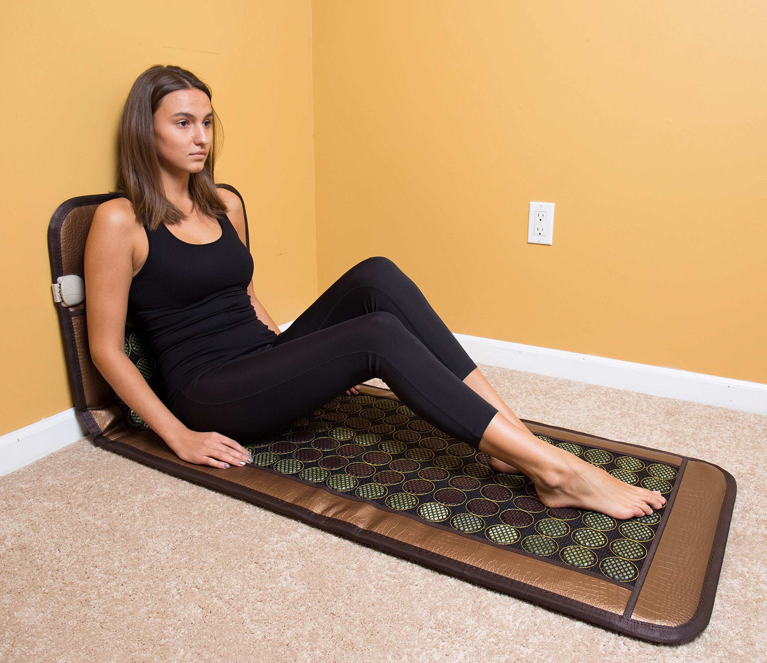 HealthyLine Far Infrared Heating Mat 72''X24'' Relieve Muscles Pain & Insomnia| Natural Jade & Tourmaline Stone | Negative Ions (Large & Flex) | US FDA by HealthyLine (Image #4)