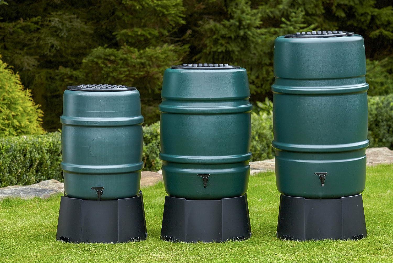 Harcostar 168 litre Water Butt + Raintrap Diverter + Stand Straight Manufacturing