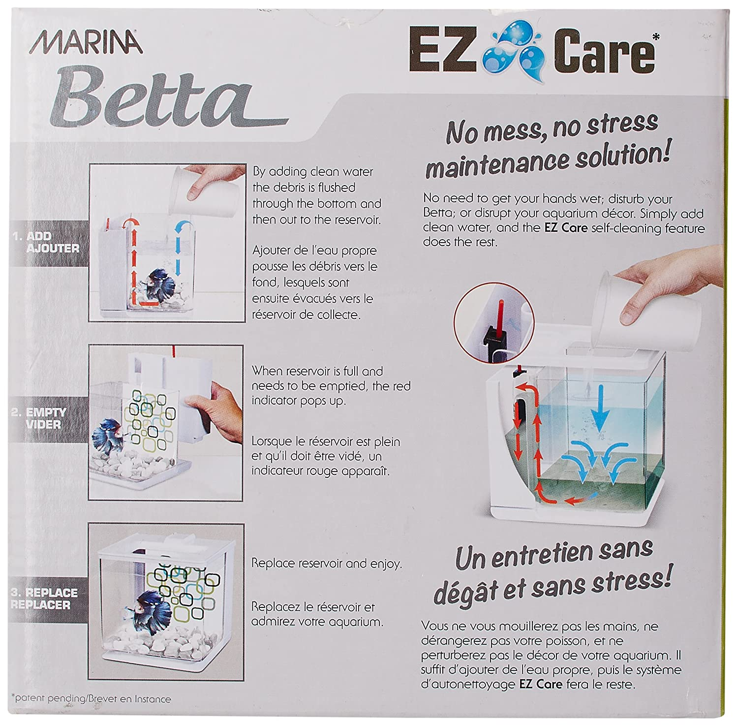Marina Bettera Ez Care 2.5 L, Color Blanco: Amazon.es: Productos para mascotas