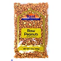 Rani Peanuts, Raw Whole With Skin (uncooked, unsalted) 14oz (400g) ~ All Natural | Vegan | Gluten Free Ingredients | Fresh Product of USA ~ Spanish Grade Groundnut / Redskin