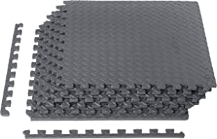 AmazonBasics Exercise Mat EVA Foam Interlocking Tiles