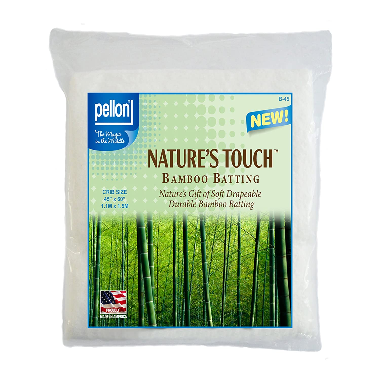 Pellon B-45 Nature's Touch Bamboo Blend Batting W/scrim - Crib 45 X 60