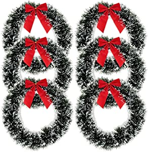 Gift Boutique 6 Christmas Wreath for Front Door with Red Bow 13
