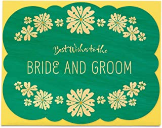 product image for Wedding Flowers Wood Congratulations Card by Night Owl Paper Goods