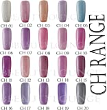 Bluesky Holographic Glitter CH Range Nail Polish UV LED With Free bbeautylounge Nail File