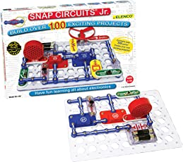 Snap Circuits Jr. SC-100 Electronics Exploration Kit   Over 100 STEM Projects   4-Color Project Manual   30 Snap Modules   Unlimited Fun