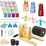 LFSUM Cup Turner Tumbler Cup Spinner Machine Kit,Wood Cuptisserie Turner DIY Glitter Epoxy Tumblers with Silent UL Motor Safe