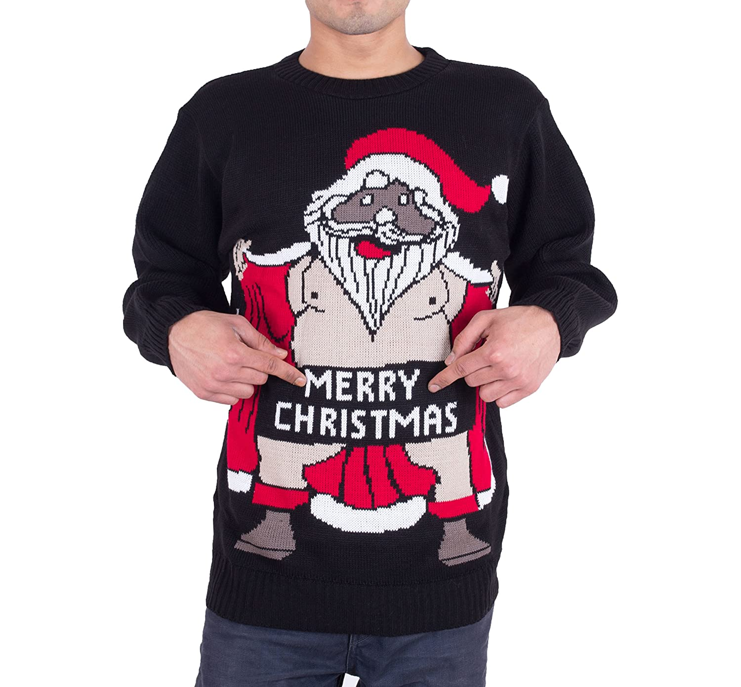 Men's Adults Novelty Christmas Knitted Jumper Size S M L XL XXL