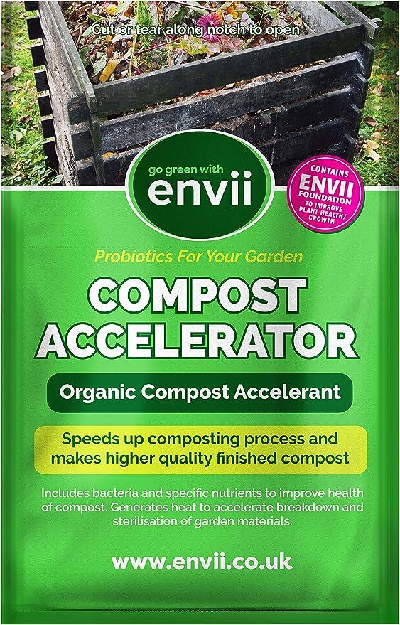 Envii Compost Accelerator - Acelerador Orgánico de Compost - Trata 1800 litros de compost: Amazon.es: Hogar