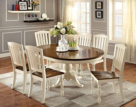 Amazon Harrisburg 7 pc Oval Dining Table Table & Chair Sets
