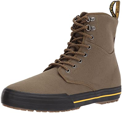 98e900da Dr. Martens Winsted Mid Olive Canvas Ankle Boot, 5 Medium UK (US Women's