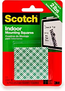 product image for Scotch Permanent Mounting Squares, 4 Squares holds up to 1 lb, 16 x 1-in Squares, White (111)