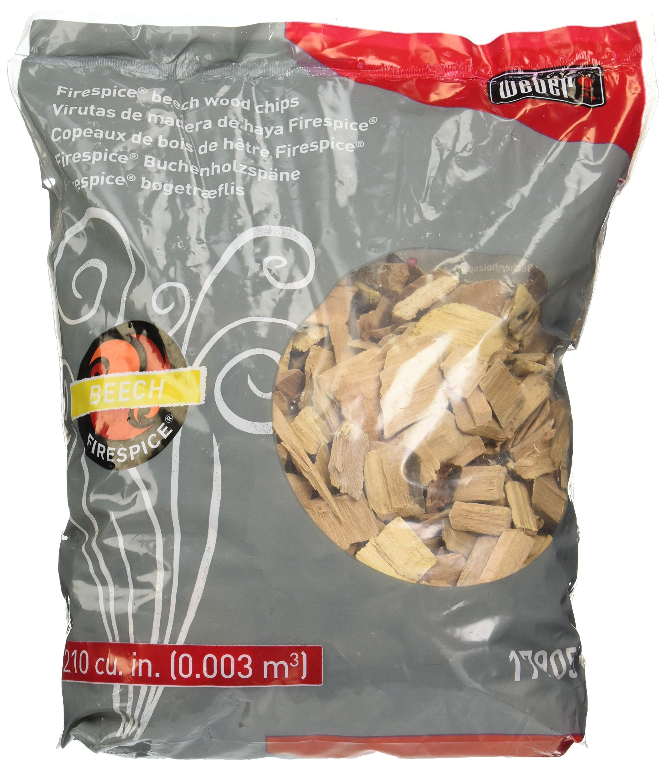 Weber 17905 Beech Wood Smoker Chips, 3-Pound, Brown