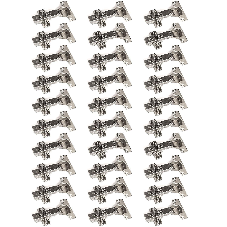 10 x SO-TECH® Charnière à Boitier'T45' Butée Coin à Amorti + Plaque de Croisement (Set de 10, 20 ou 30 disponible)