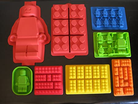 Make Lego Minifigure and Bricks Silicone Cake PAN Birthday Party ...