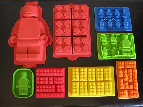 Amazon.com: Make Lego Minifigure and Bricks Silicone Cake PAN ...