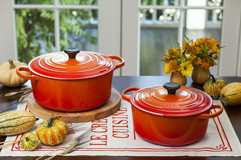 Le Creuset Enameled Cast Iron Signature Round Dutch Oven, 5.5 qt., Flame