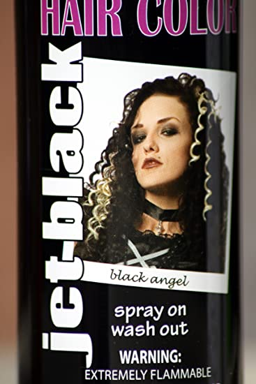 spray on wash out black hair color temporary hairspray great for costume or halloween party stage