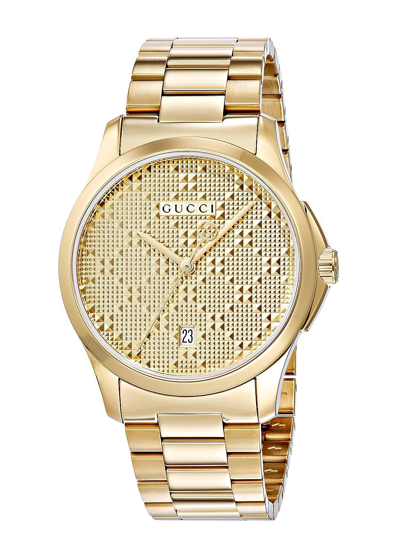 9066609961f Swiss Quartz and Alloy Dress Gold-Toned Men s Watch(Model  YA126461) · Gucci