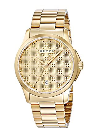 Gucci Swiss Quartz and Alloy Dress Gold-Toned Mens Watch(Model: YA126461)