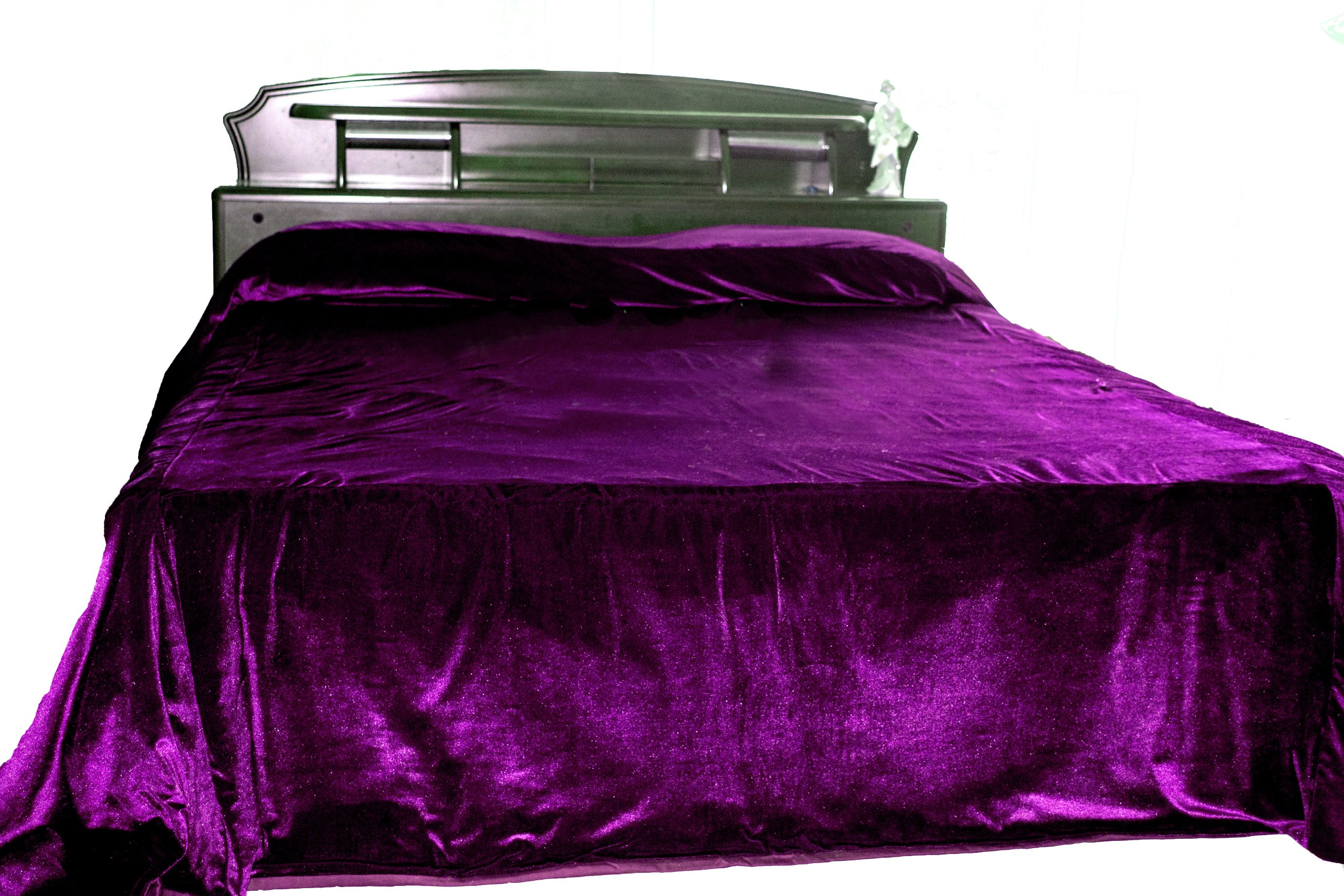 Amore Beaute Handmade Customizable Luxury Purple Bedspread - Couture Bed Cover in Luxe Velvet - Purple Coverlet - Bed Spread 110'' X 96'' - Wedding Anniversary Christmas Gifts by Amore Beaute