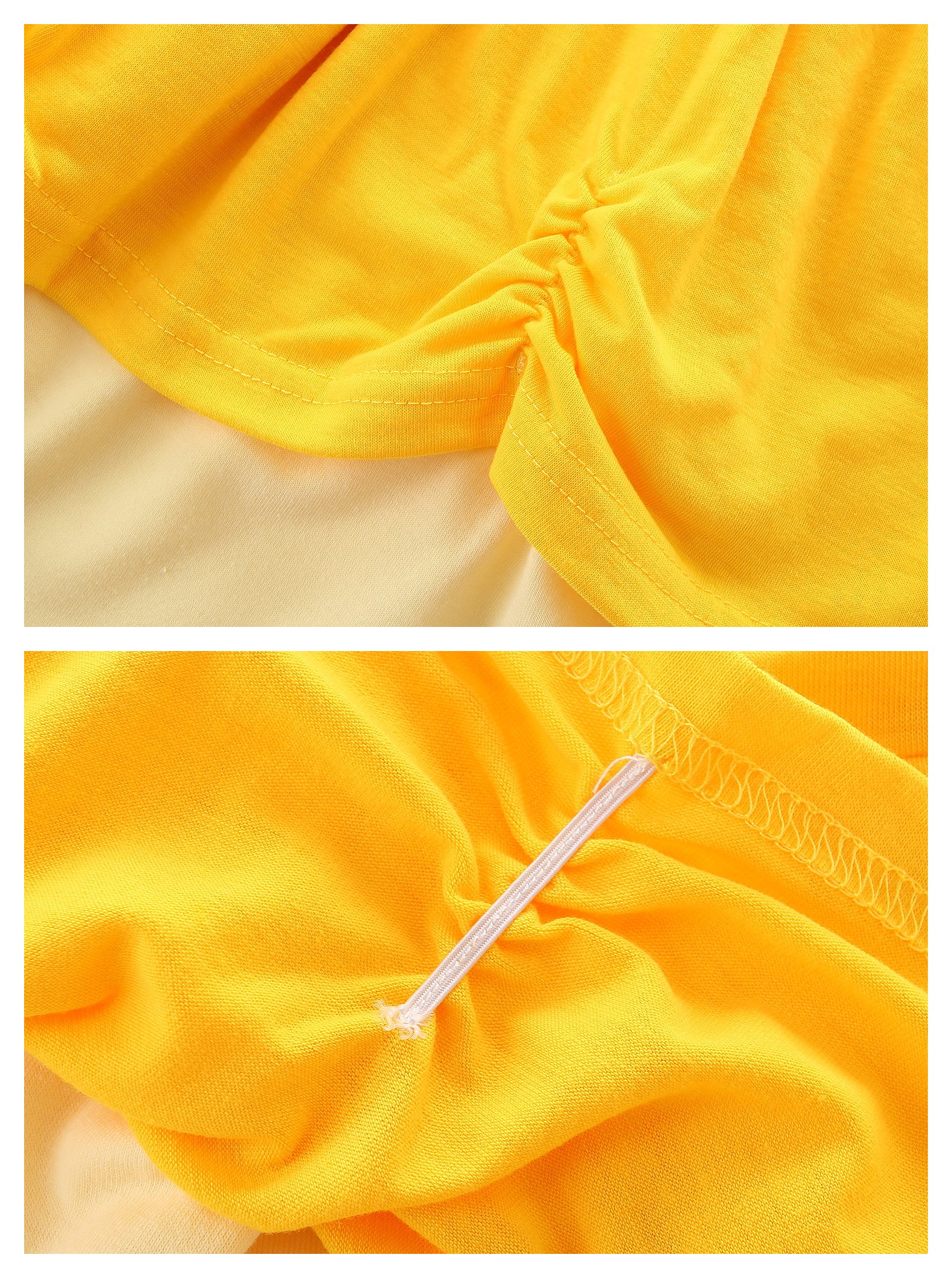 AmzBarley Girls' Belle Costume Party Dress up Clothes Flower Princess Dresses Yellow Size 6 by AmzBarley (Image #5)