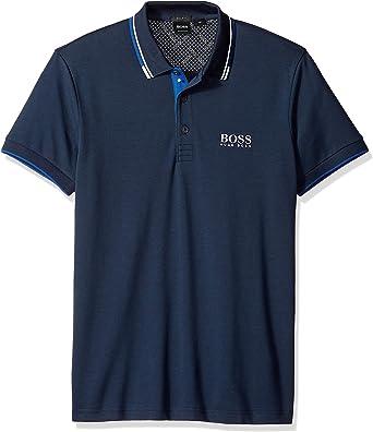 Hugo Boss Hombre 50326299 Manga Corta Camisa Polo - Azul - 3X-Large: Amazon.es: Ropa y accesorios