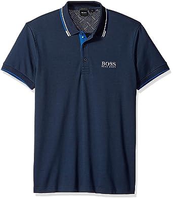 Hugo Boss Hombre 50326299 Manga Corta Camisa Polo - Azul - 3X ...