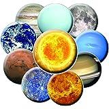 10 Planetary Fridge Magnets - Planet Magnet Set - Space Magnet Set - Solar System Magnets - Astronomy Magnets